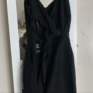 Express Pants & Jumpsuits - New Blk sweetheart linen jumpsuit